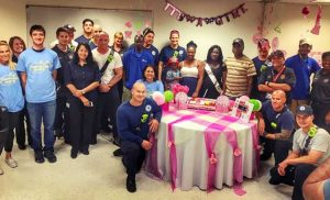 firefighters throw baby shower