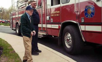 man fulfills lifelong firefighting dream