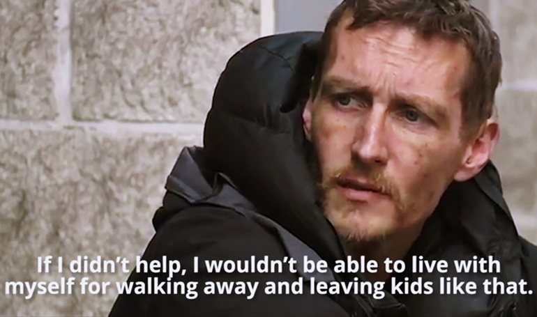 homeless manchester hero